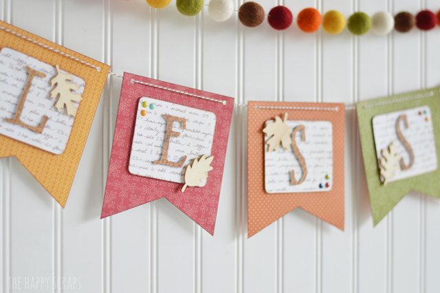 You'll have this DIY Blessed Banner put together in no time with the Banner Punch board and Cricut Explore machine. It's perfect for Thanksgiving.