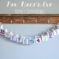 New Year's Eve Hourly Countdown