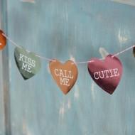 Foiled Conversation Heart Banner