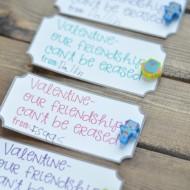 Non-Candy Eraser Valentine Printable