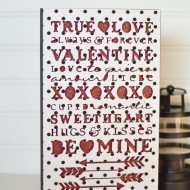 Valentine's Day Shelf Decor