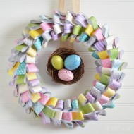 Paper Easter Wreath Tutorial