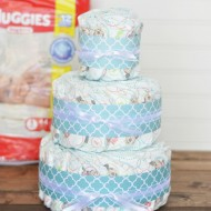 Quick & Easy Diaper Cake – First Time Mom Gift