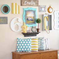 Turquoise & Yellow Gallery Wall