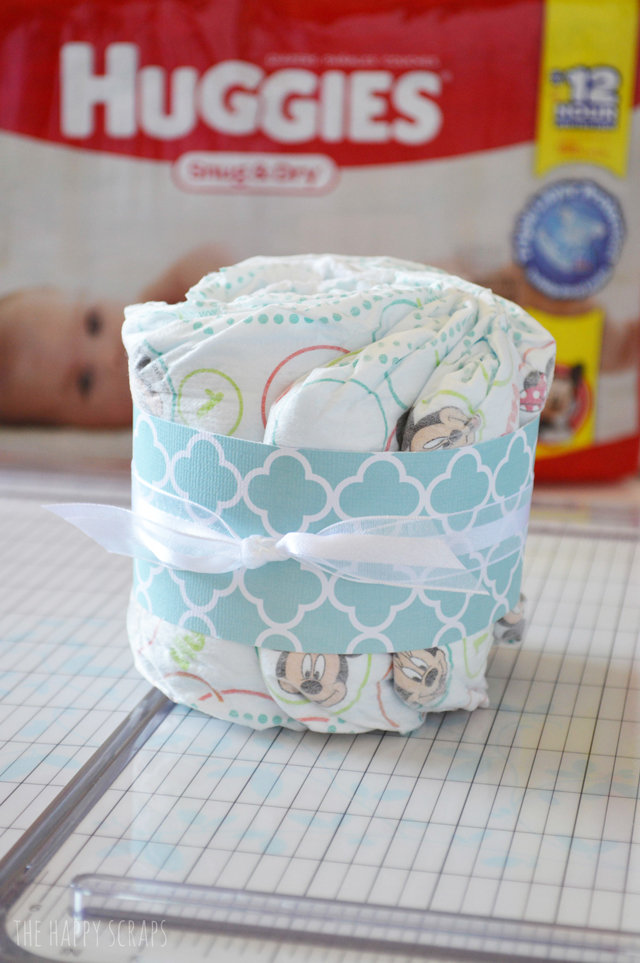 Need A Baby Gift This Huggies Diaper Cake Takes Less Than An Hour To Make