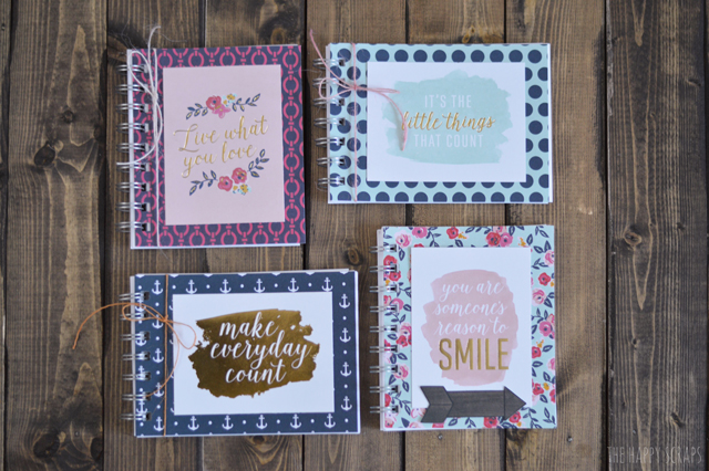 These DIY Mini Notebooks are so cute and easy! Grab your favorite patterned papers and a few other supplies and make some notebooks.