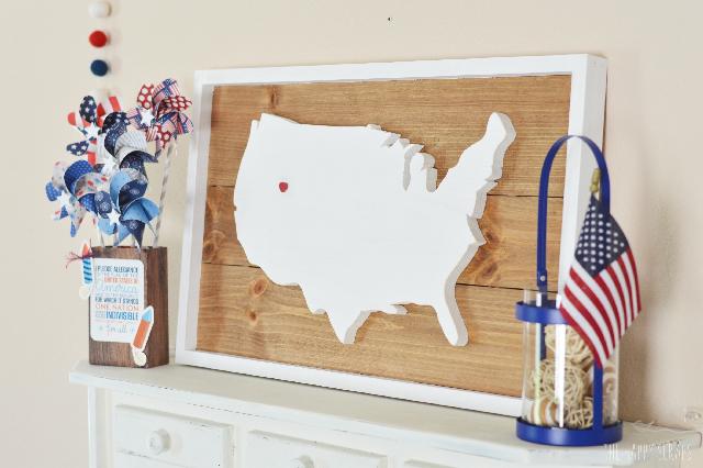 USA Plank Sign