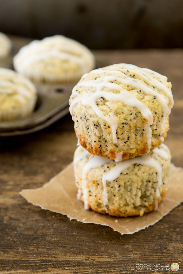 Lemon Poppy Seed Glazed Muffins