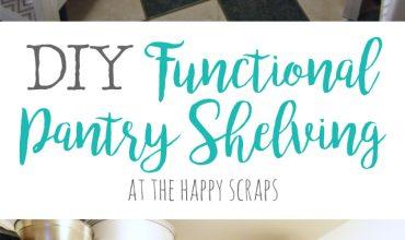 DIY Functional Pantry Shelving