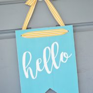 Hello Front Door Sign