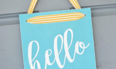Hello Front Door Sign