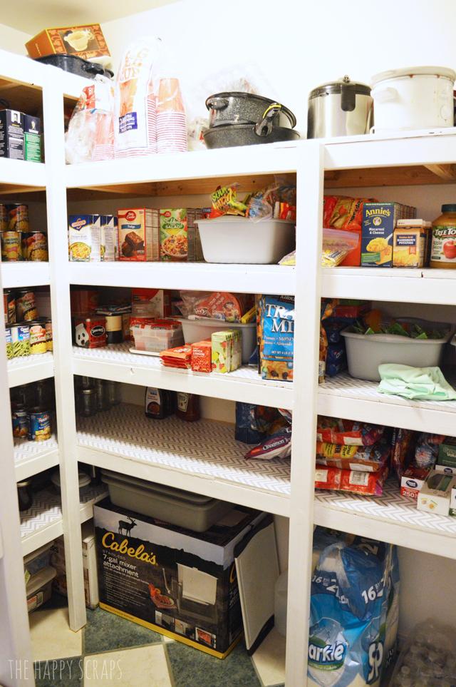 DIY Functional Pantry Shelving The Happy Scraps