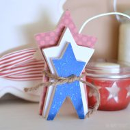 Stacked Stars 4th of July Decor