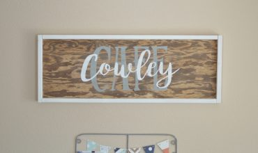 Cafe Cowley Kitchen Sign