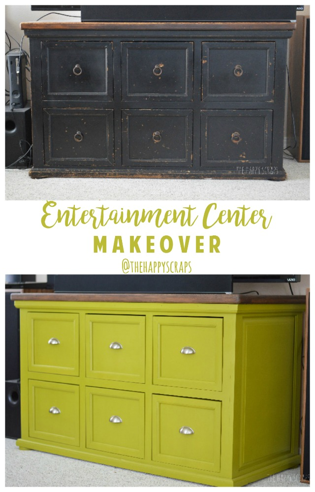 entertainment center makeover