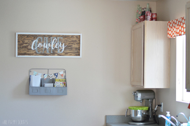 Create a Kitchen Sign that makes your kitchen more personal. The sign is easy to make and it's fun to customize what it says too.