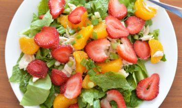 Mandarin Orange & Strawberry Chicken Salad