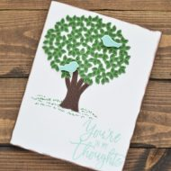 Stamped Thoughtful Branches Card