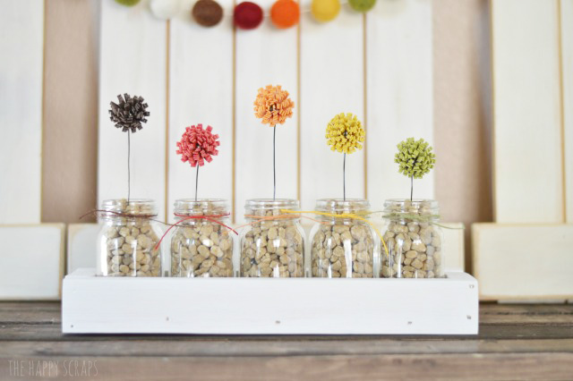 Using these adorable Mini Jars, create a fun fall decor piece + check out the ideas from the others sharing their projects.