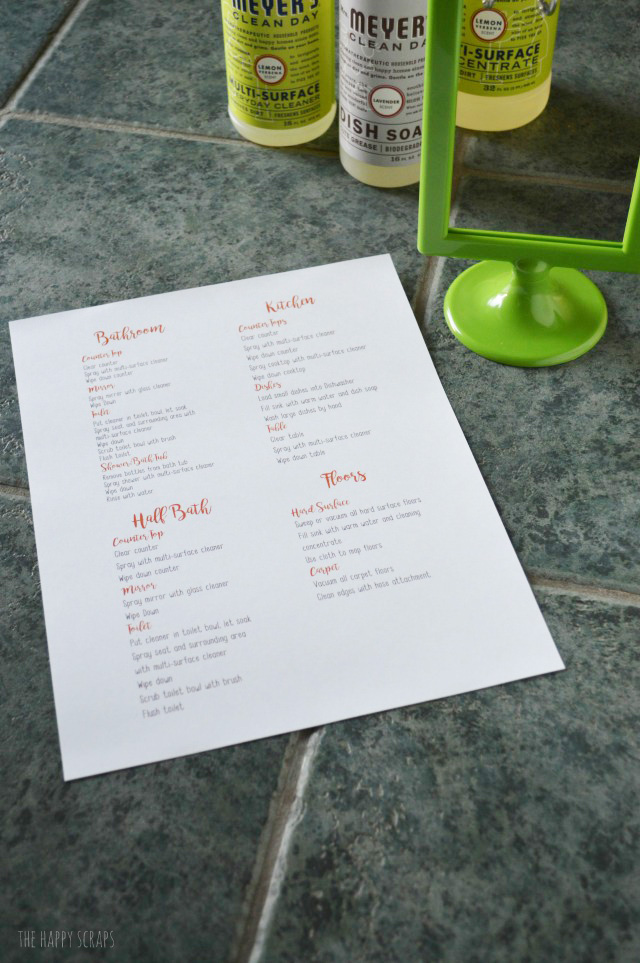 With these Weekend Cleaning Printable Lists, you'll have your house all cleaned in no time + the kids will know just what they need to do.