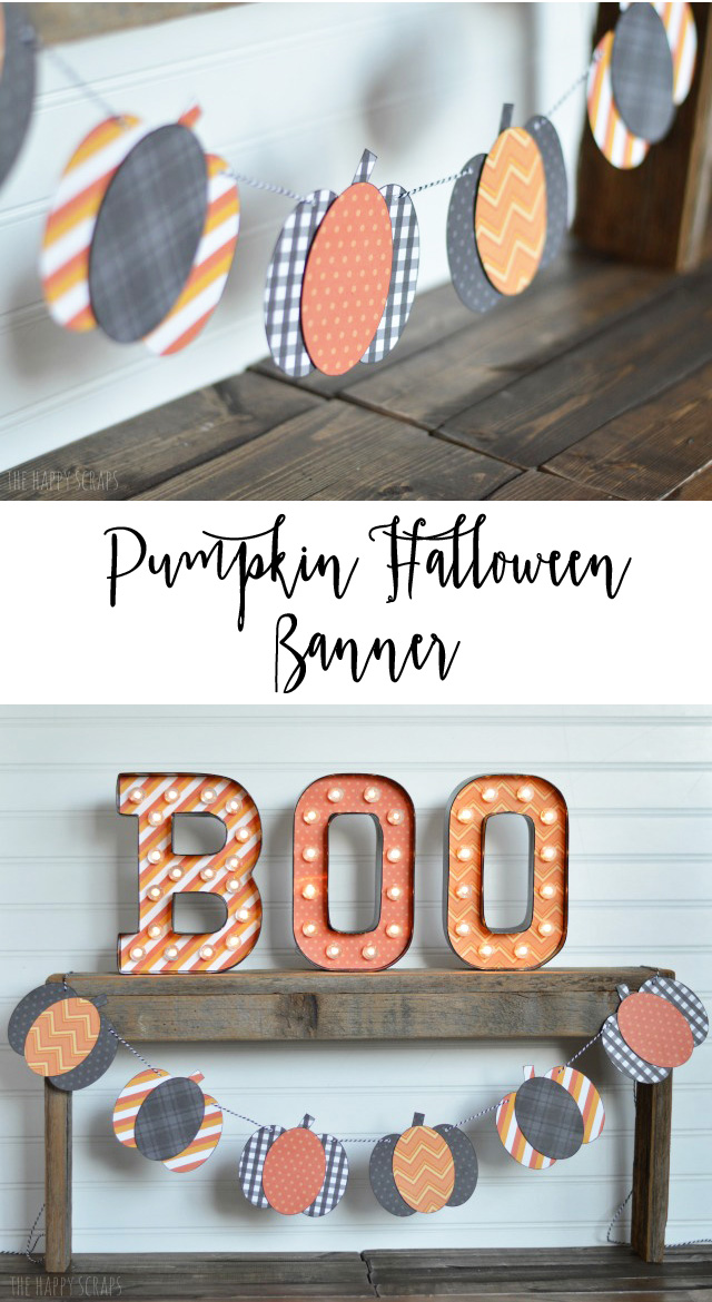 Learn how easy it is to make this Pumpkin Halloween Banner. It's a quick little project to make, but will look cute hanging up for Halloween!