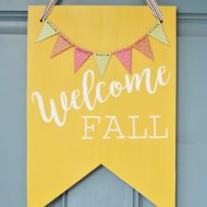Welcome Fall Front Door Decor