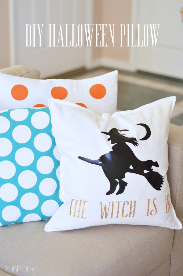 Making custom holiday decor couldn't be easier with the Cricut Explore and some iron-on vinyl. Come and learn how easy this DIY Halloween Pillow is to make.