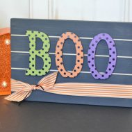 BOO Slat Sign
