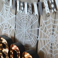 Orange, Black & White Halloween Decor