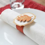Thanksgiving Napkin Ring Place Cards with Cricut Explore Air 2 Review