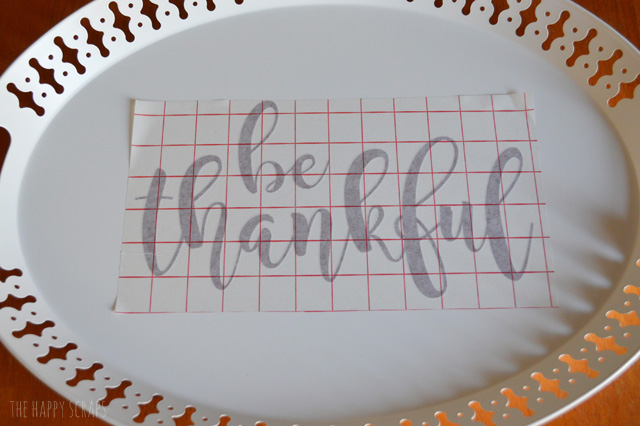 You won't believe how easy this Be Thankful Tray is to put together. Grab a tray and a few supplies and you'll have this Thanksgiving tray done in no time!