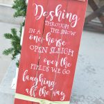 Christmas Front Porch Sign with Cricut