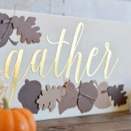 DIY Gather Thanksgiving Sign