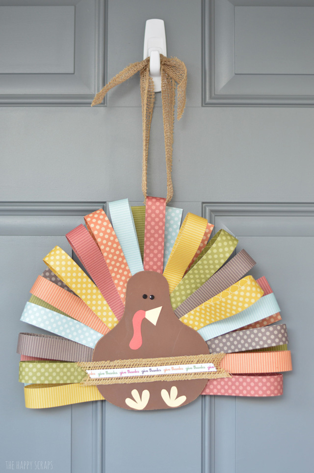 Creating a Paper Feathered Turkey is simple to do. You just need a few supplies. It's such a fun project that looks cute too.