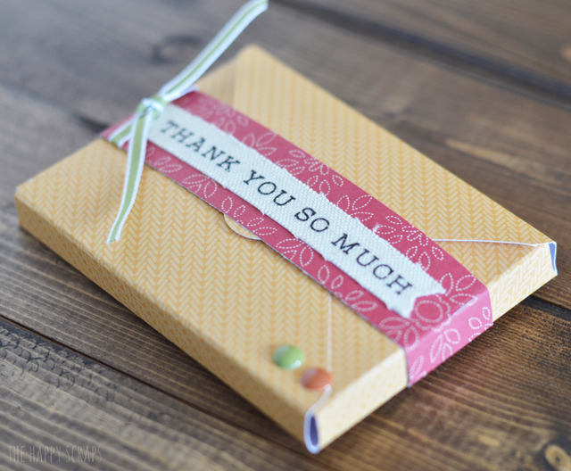 Creating a small Thanksgiving Host Gift is easy. Get their favorite gift card and include in inside this cute little box envelope!