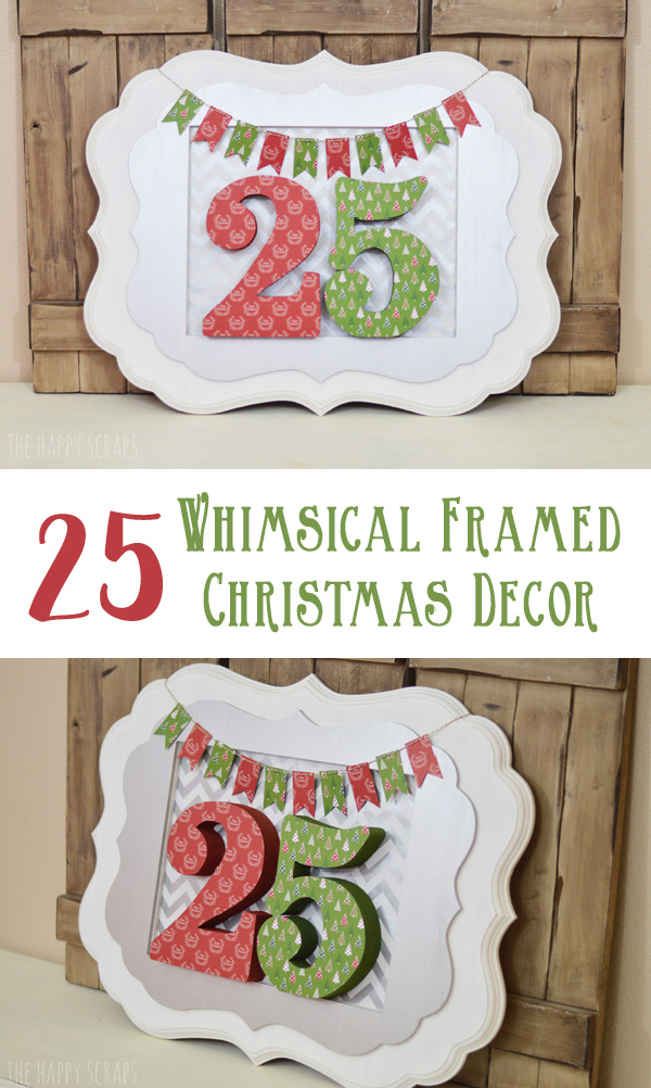 Creating this Whimsical Framed Christmas Decor is simple, and it creates a large statement piece. Get all the details on the blog.