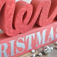 Merry Christmas Wood Letter Set
