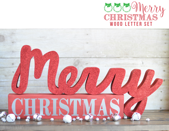 Red is a Christmas color for sure, so what better color to use to finish off this fun Merry Christmas Wood Letter Set. Stop by the blog to see it!