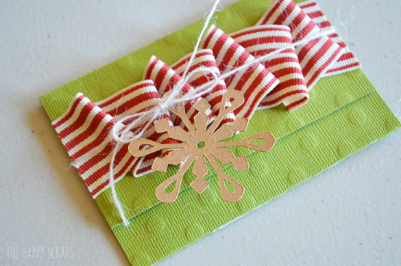 Giving gift cards this year? Put together this Simple Gift Card Holder to hold those cards. They are quick + easy to make!