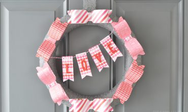 Valentine Paper Bow Wreath