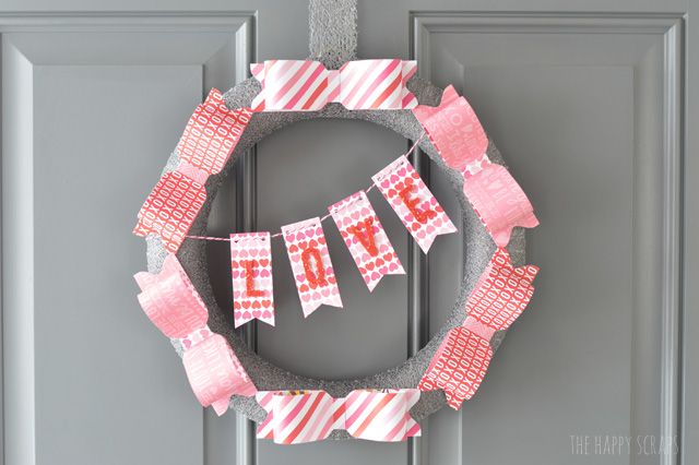valentine wreaths for your front doorValentine Paper Bow Wreath  The Happy Scraps