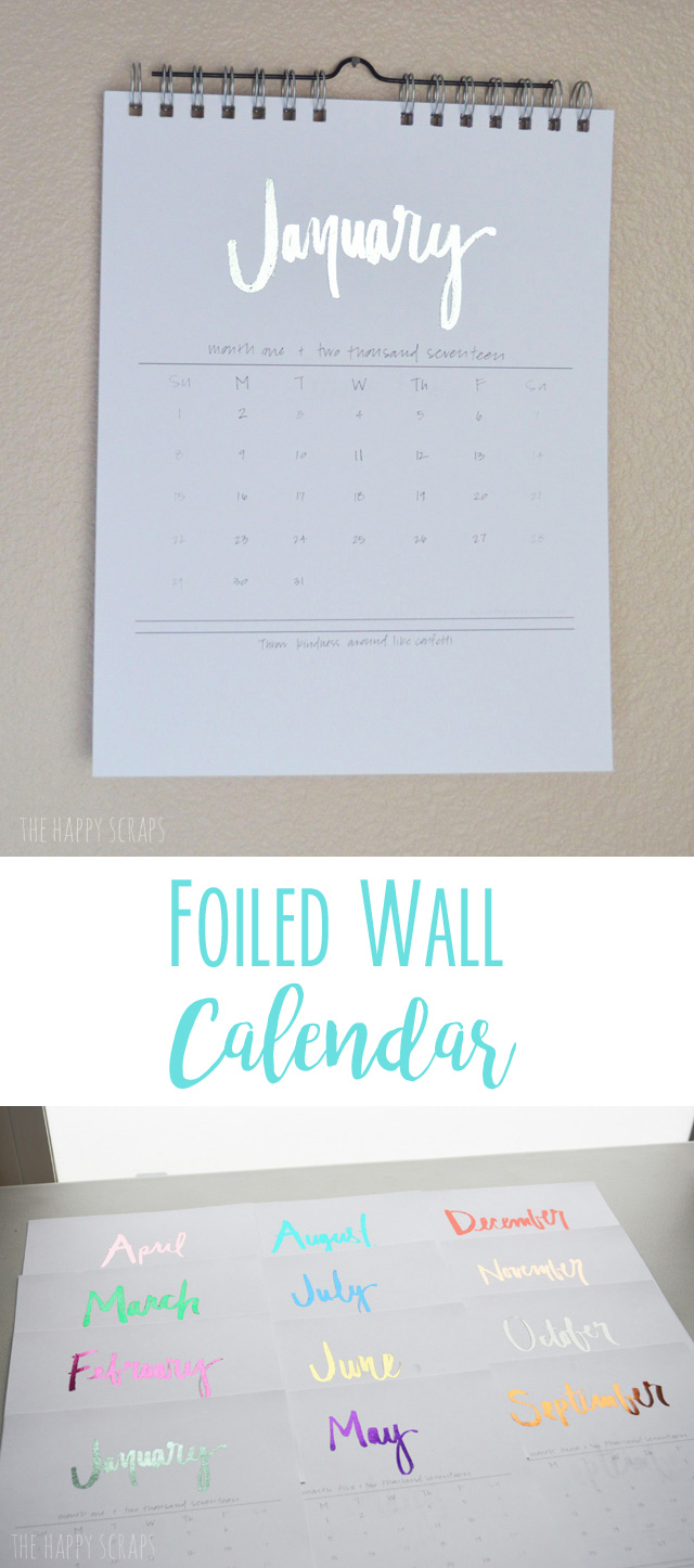 I'm so excited to show you how easy it is to use the Heidi Swapp Minc machine and Cinch to make your own Foiled Wall Calendar! It's SO easy!