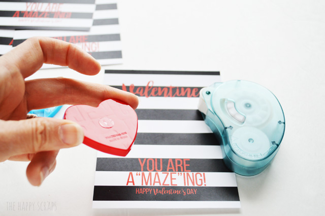 """Need a quick + fun classroom valentine? Let your kids hand out these fun Valentine, you are a""""maze""""ing cards for their valentine's this year."""