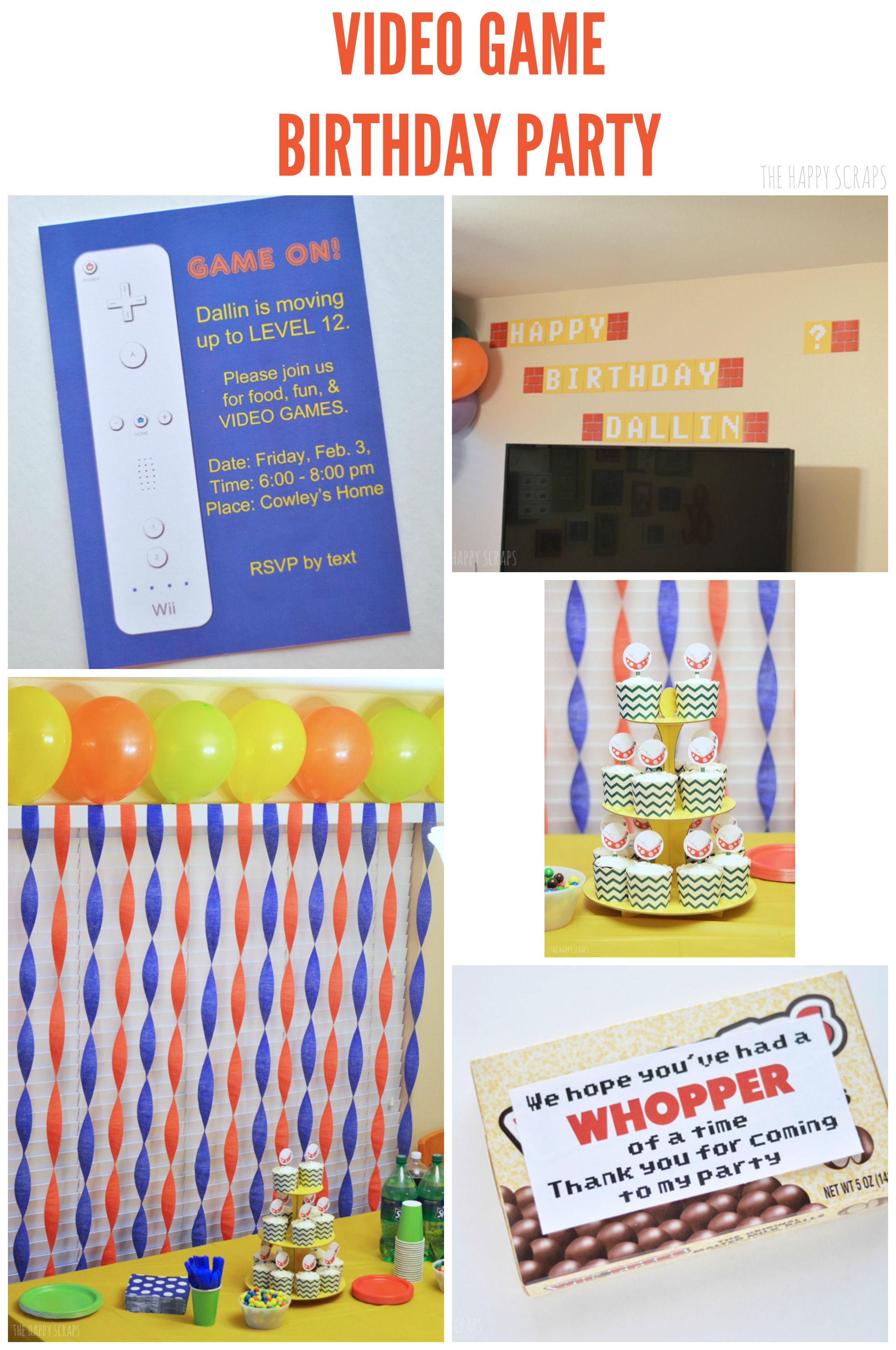 Putting together a Video Game Birthday Party doesn't have to be hard. Stop by to check out the easy ideas I'm sharing for putting one together.