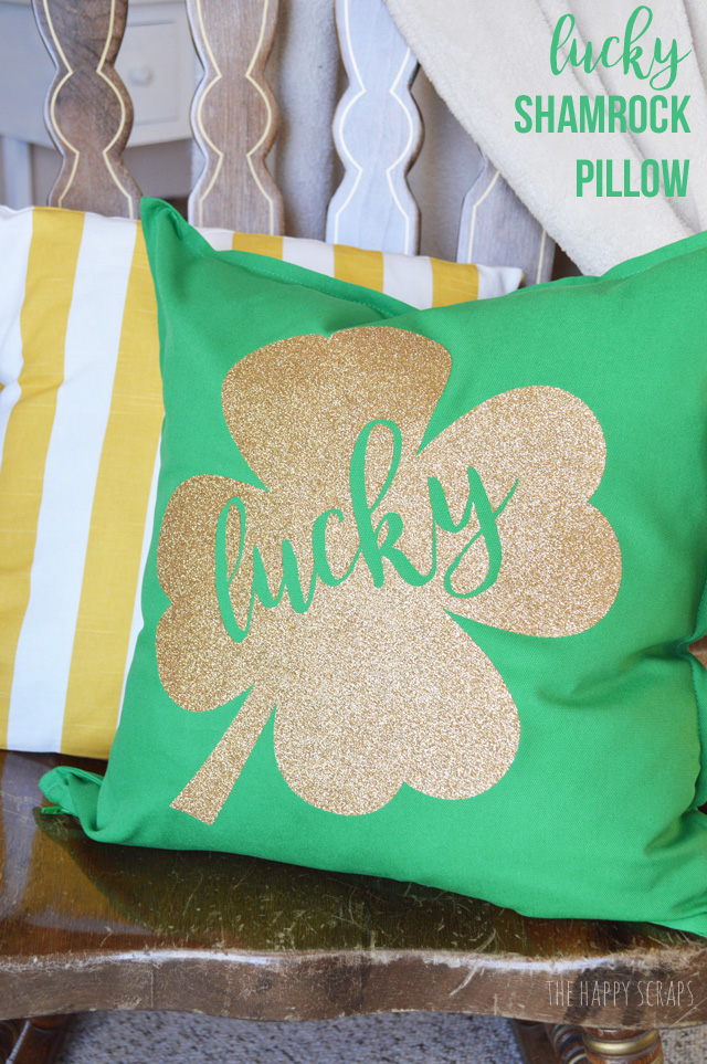 Lucky Shamrock St Patrick S Day Pillow The Happy Scraps