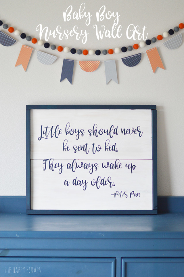 The key to creating the perfect Baby Boy Nursery Wall Art or any wall art is the font! Stop by the blog and check out where I get the perfect fonts.