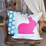 Pom Pom Tail Bunny Rabbit Easter Pillow