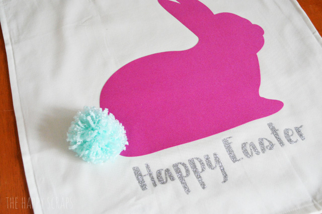 Every bunny needs a fluffy tail. Stop by the blog to learn how to make this Pom Pom Tail Bunny Rabbit Easter Pillow. It's quick + easy!