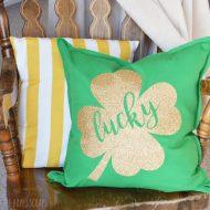 Lucky Shamrock St. Patrick's Day Pillow