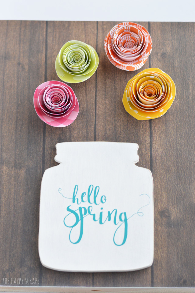 Spring flowers are a favorite of mine. I put this Spring Paper Flower Bouquet together so I could have a fun pop of color in my home + it won't wilt or die.
